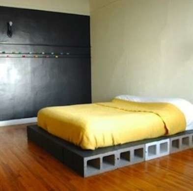 Cinder Block Bed