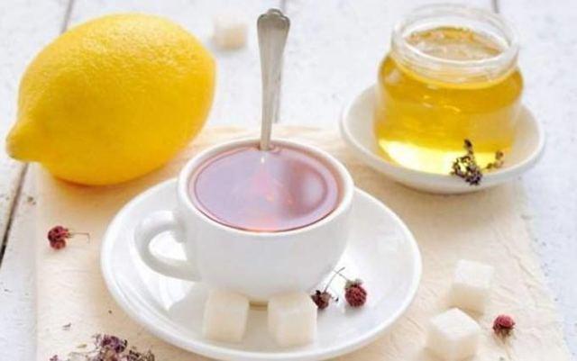 Чай, сахар, мед, лимон