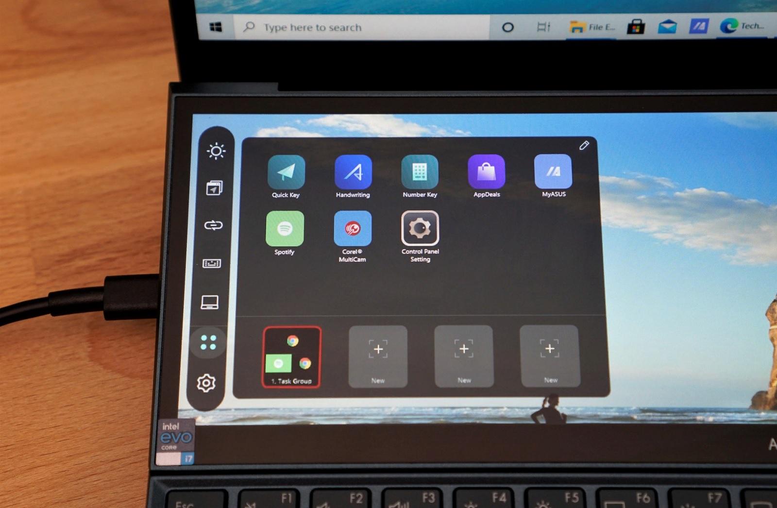ASUS ZenBook Duo screen settings