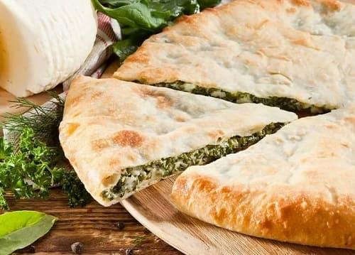 Осетинский пирог с сыром и зеленью на кефире - рецепт с фото